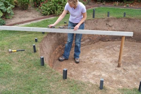 Teichrand bauen mit ECOLogics Teichrandsystem